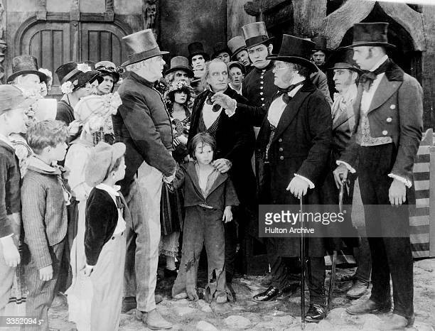 Child star Jackie Coogan plays Oliver in the silent movie version of 'Oliver Twist'