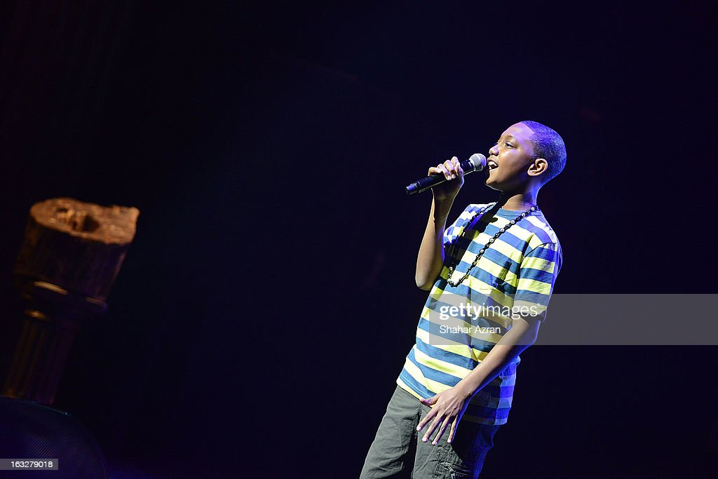 Child Star of Tomorrow Samson Oshode, Jr. performs during Amateur Night at The Apollo Theater on March 6, 2013 in New York City.