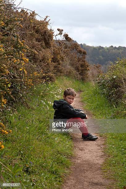 Child Sulking In nature
