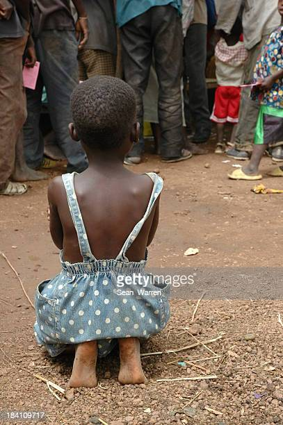 Child Waiting For A Vaccination