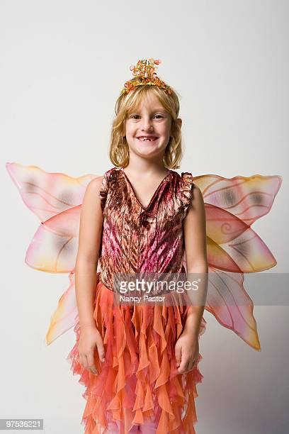 A child wearing a autumn fairy costume.