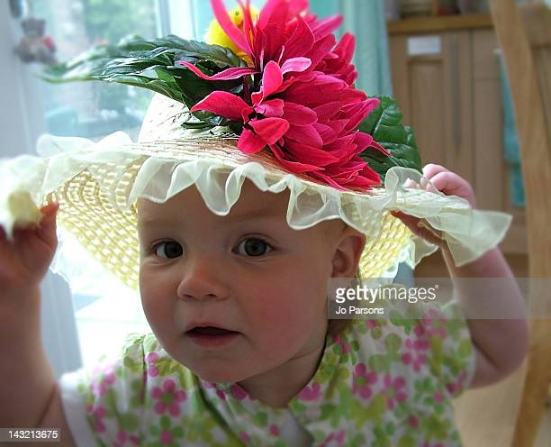 Child wearing Easter Bonnet