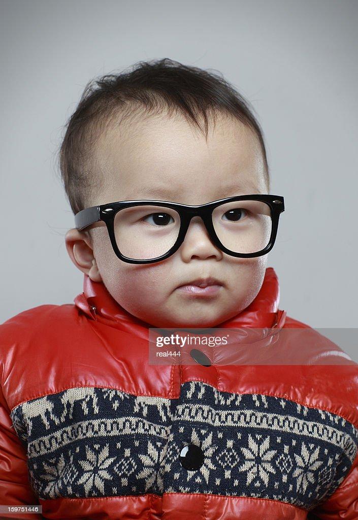 Child Wearing Eyeglasses : Stock Photo