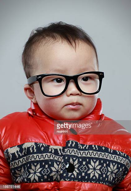 Child Wearing Eyeglasses