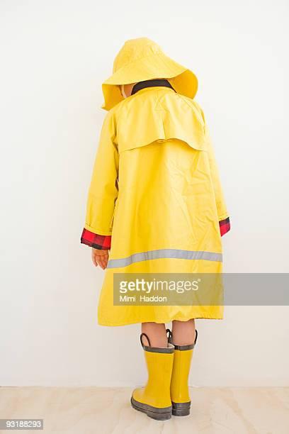 Child Wearing Rain Gear