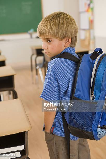 Child with a backpack