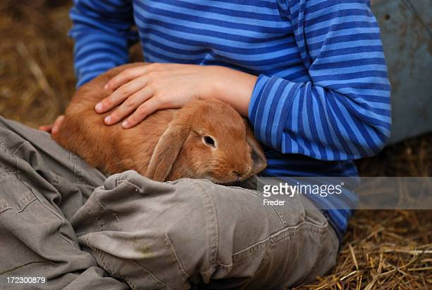child with bunny
