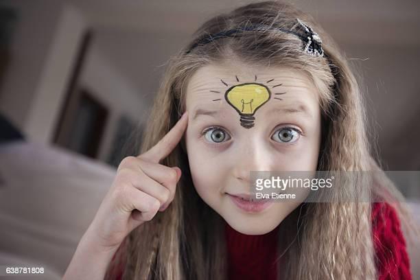 Child with light bulb idea