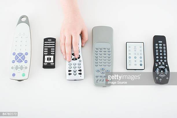 Child with remote controls