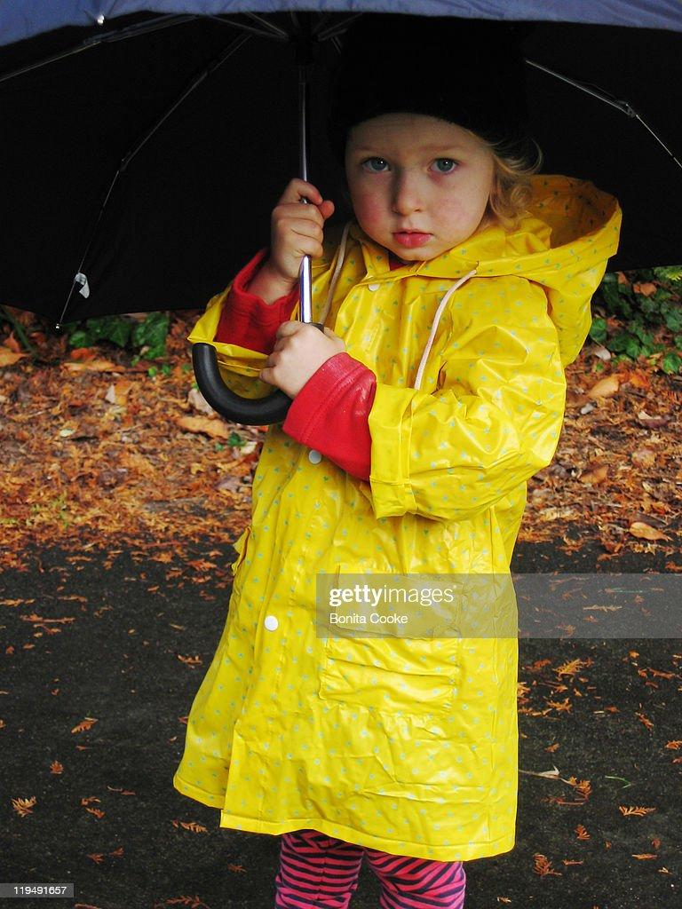 Child with umbrella : Stock Photo