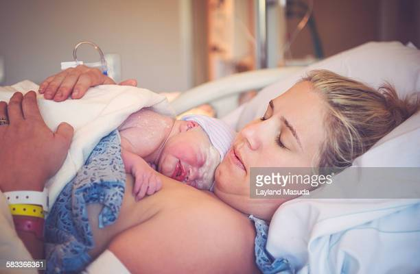 Childbirth - mother and newborn