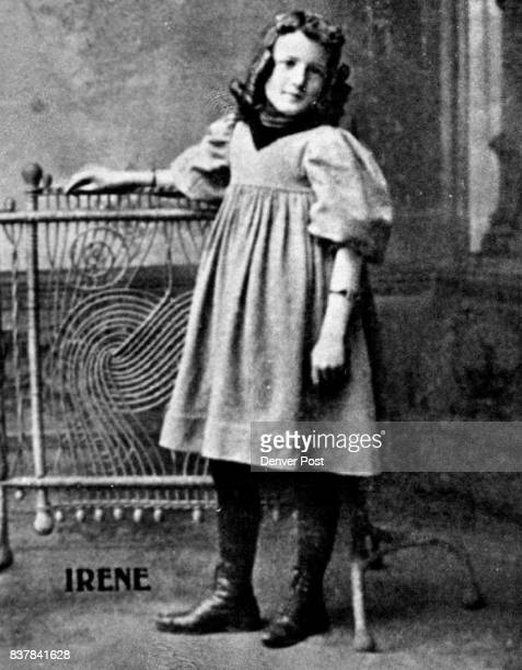 Childhood photo of Mrs Irene Wheeler is in her father's poetry book Credit Denver Post