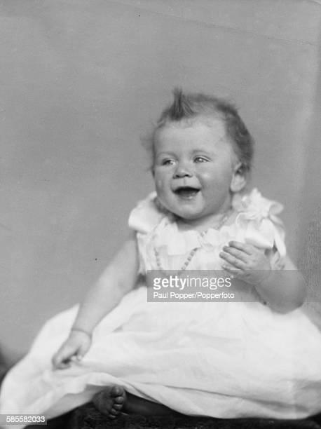 Childhood portrait of Queen Elizabeth II as a baby in December 1926