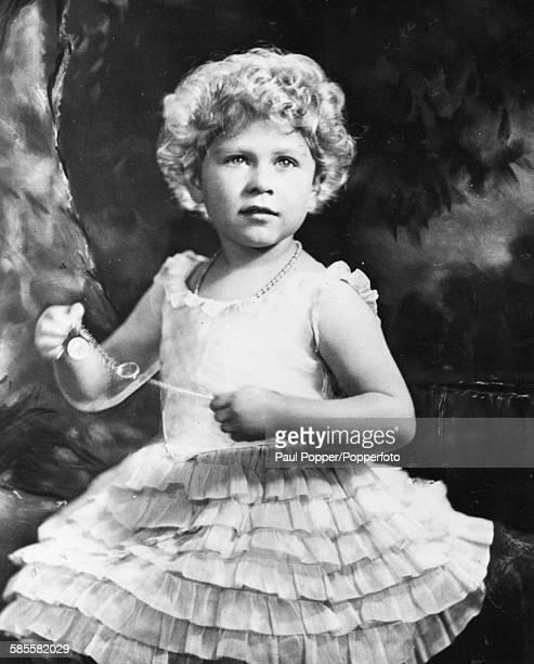 Childhood portrait of Queen Elizabeth II circa 1929