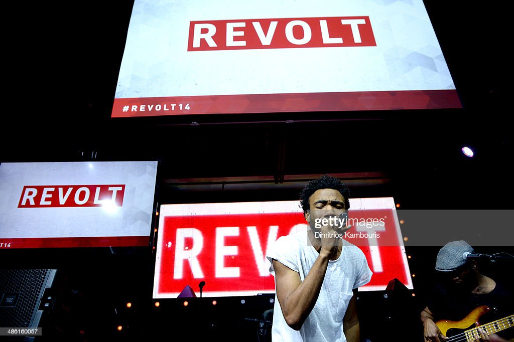 Childish Gambino performs at the REVOLT TV First Annual Upfront presentation at Marquee on April 22, 2014 in New York City.