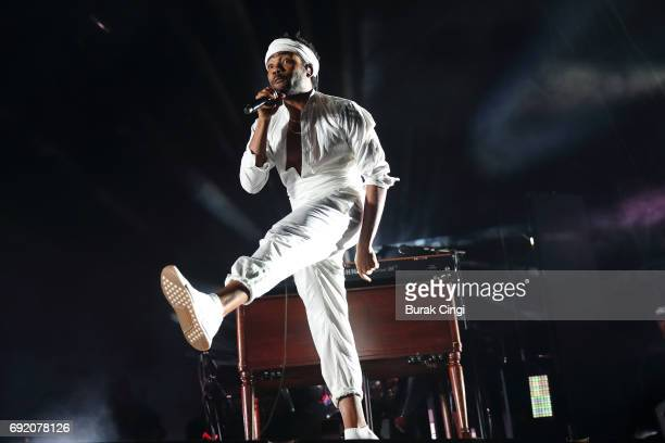 Childish Gambino performs on day 2 of the Governors Ball 2017 music festival at Randall's Island on June 3 2017 in New York City