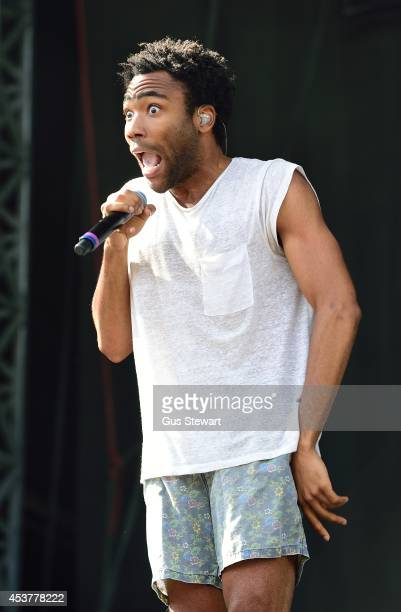 Childish Gambino performs on Day 2 of the V Festival at Hylands Park on August 17 2014 in Chelmsford England