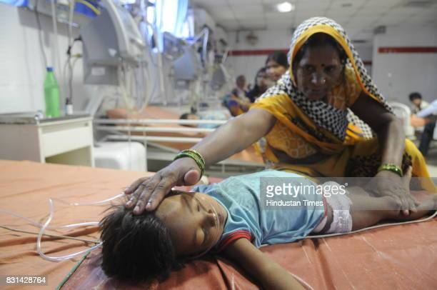 Children admitted at ICU ward at Babu Mohan Singh district hospital on August 14 2017 in Deoria India More than 60 children have reportedly died at...