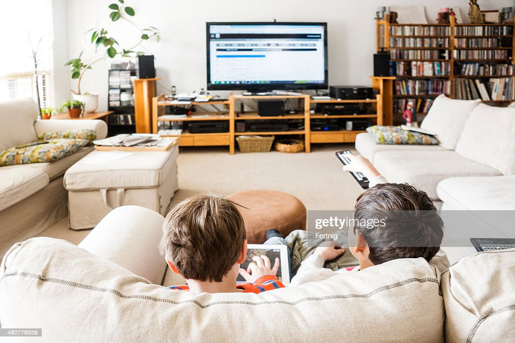 Children and available media : Stock Photo