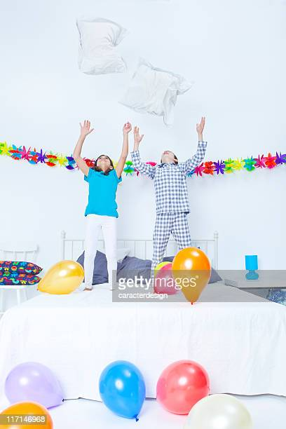 Children and bedroom party