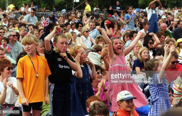 Children and families enjoy CBBC Proms In The Park in London's Hyde Park The BBC hope to attract a younger audience to live classical music with the...