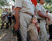 Children and members of the Afrikaner Resistance Movement a South African far right secessionist political organization and former paramilitary The...