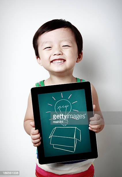 Children and tablet computer