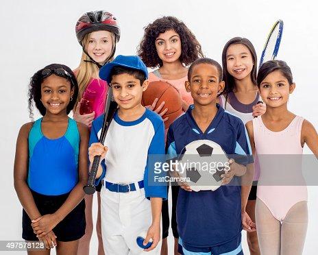 Enfants et à leurs passe-temps