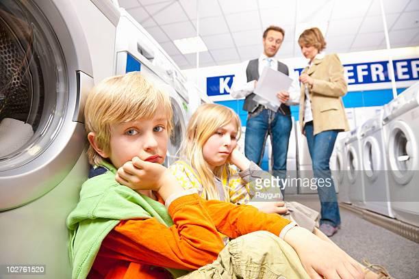 Children are bored of washing machines