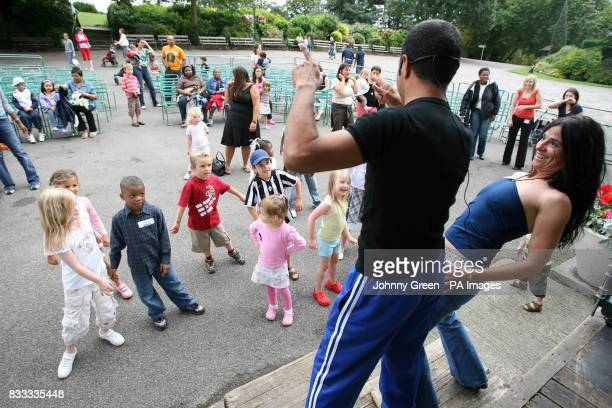 Children are taught to dance samba by Roberto Silva and Grazia Farina from Mandacaru Dance Theatre at the Horniman Museum in Forest Hill southeast...