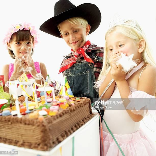 children (8-11) at a birthday party