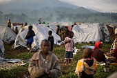 Children at an Internally Displaced People camp on November 3 2008 outside of Goma in the Democratic Republic of Congo A UN convoy carrying medicinal...