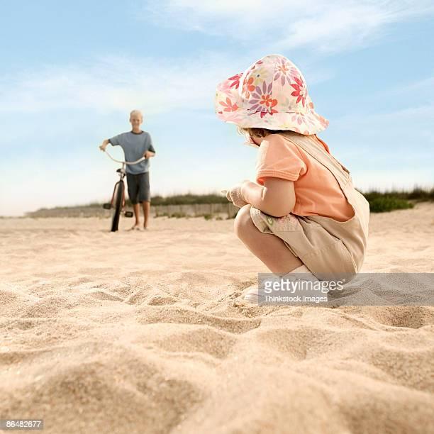 Children at beach