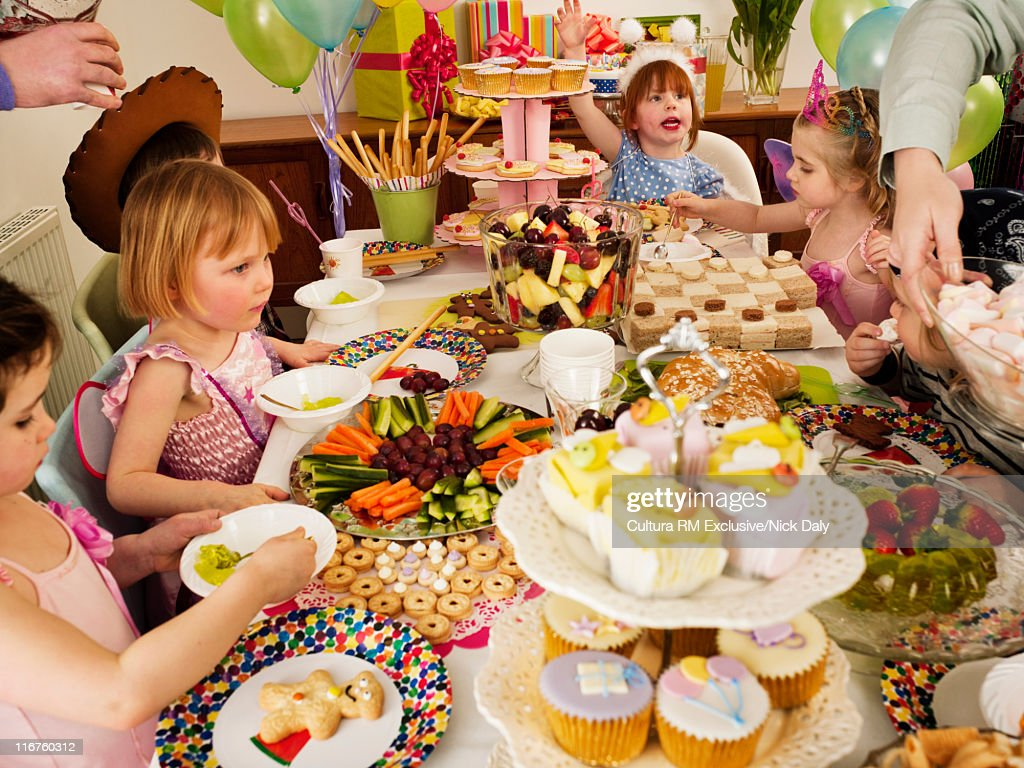 Children at birthday party : Stock Photo