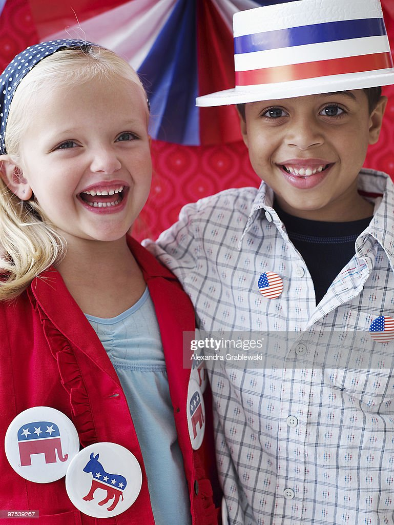 Children at Election Time : Stock Photo