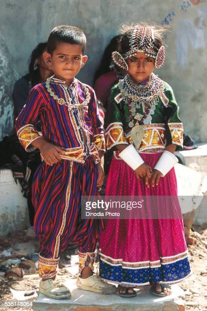 Children at Ravechi fair in Rapar, Gujarat, India.