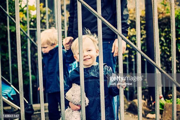 Children at school gates