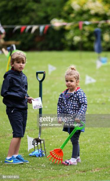 Children at the 34th World Worm Charming Championship in Willaston Cheshire PRESS ASSOCIATION Photo Picture date Saturday June 22 2013 Photo credit...