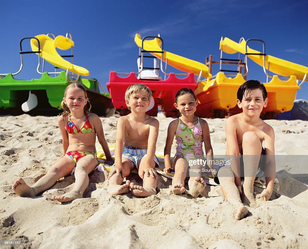 Children at the beach : Stock Photo