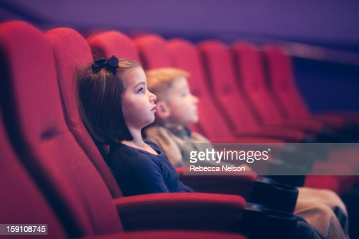 Children at the Movies : Foto de stock