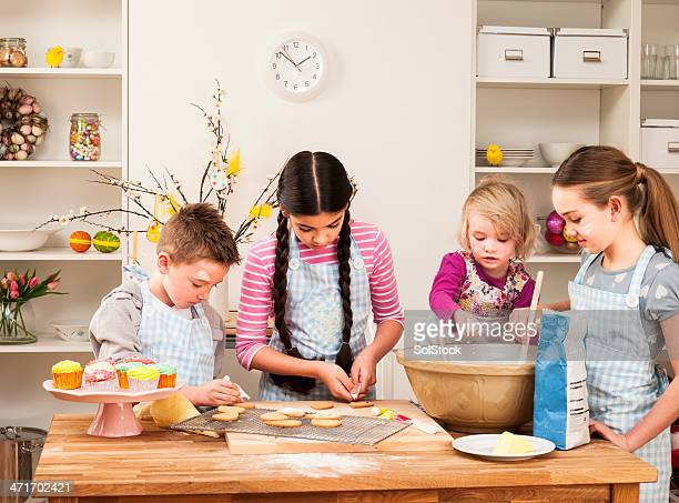Children Baking Together