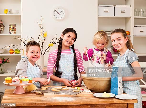 Children Baking Together