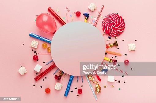 子供の誕生日パーティーの背景 : ストックフォト