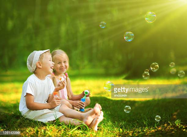 Bambini bolle Soffiare