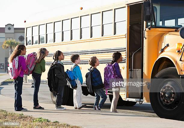 Kinder boarding school bus