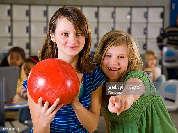 Crianças da série de Bowling