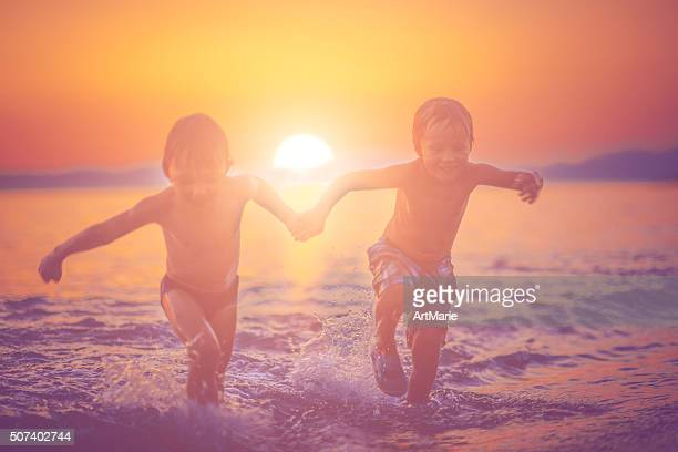 Children by the sea