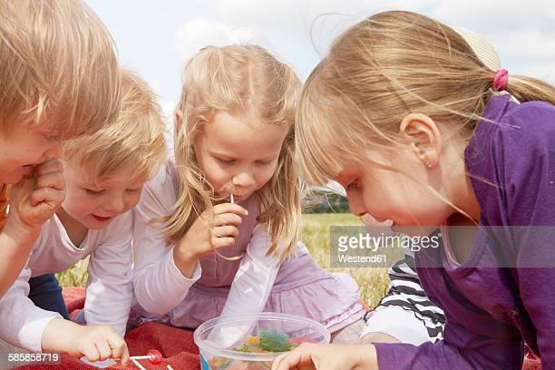 Children choosing sweets