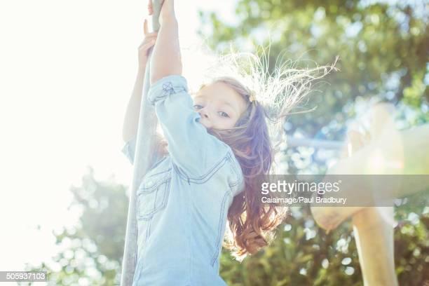 Children climbing outdoors