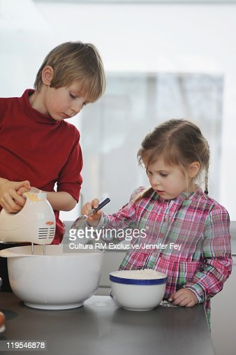 Children cooking together